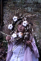 PUSSY WILLOW, COTTON BUD AND TWIG WREATH