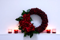 CRANBERRY AND ROSE WREATH