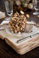 NATURAL DRIED HYDRANGEA DECORATIONS AND SETTINGS;PHOTOGRAPHER JACKY HOBBS