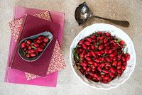 ROSEHIPS; picking, jelly, syrup, decorations ;Photographer Jacky Hobbs
